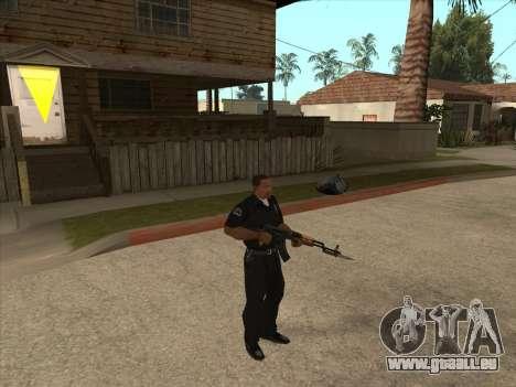 AKMS avec baïonnette-couteau pour GTA San Andreas