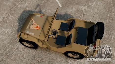 Willys MB für GTA 4 rechte Ansicht