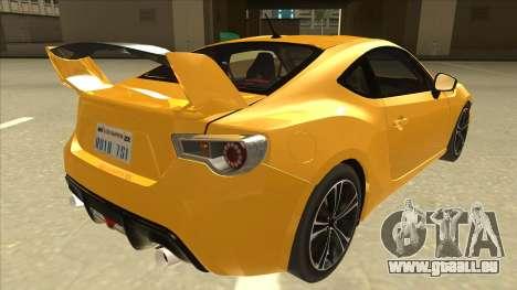 TOYOTA GT86 2JZ-GTE Black Revel für GTA San Andreas rechten Ansicht