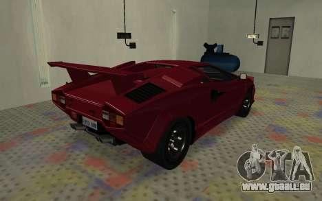 Lamborghini Countach LP5000 Extreme pour GTA San Andreas sur la vue arrière gauche
