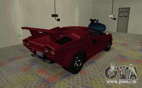 Lamborghini Countach LP5000 Extreme für GTA San Andreas zurück linke Ansicht