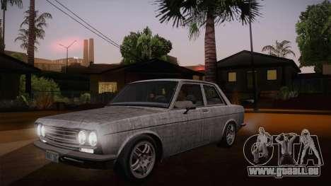 Datsun 510 RB26DETT Black Revel pour GTA San Andreas vue de dessous