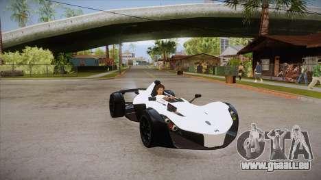 BAC Mono 2011 für GTA San Andreas Rückansicht