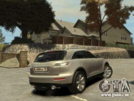 Infiniti FX45 2008 pour GTA 4 Vue arrière