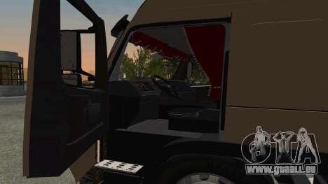 Volvo FM16 pour GTA San Andreas vue intérieure