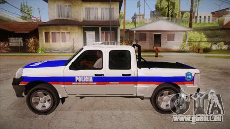 Ford Ranger 2011 Province of Buenos Aires Police für GTA San Andreas linke Ansicht