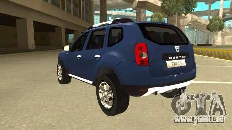 Dacia Duster 2014 pour GTA San Andreas vue arrière