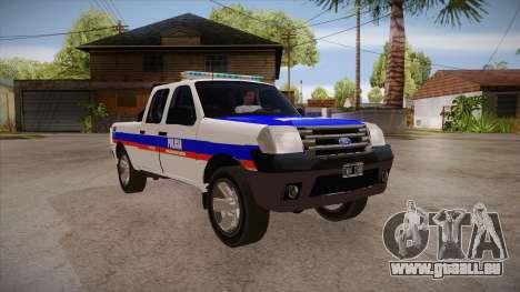 Ford Ranger 2011 Province of Buenos Aires Police für GTA San Andreas Rückansicht