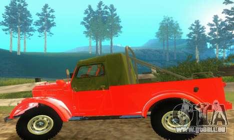 GAZ 69 Pickup pour GTA San Andreas vue intérieure