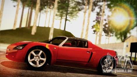 Opel Speedster Turbo 2004 pour GTA San Andreas vue de droite
