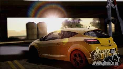 Renault Megane RS Tunable pour GTA San Andreas salon