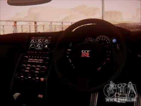 Nissan GT-R R35 Spec V 2010 pour GTA San Andreas vue de dessus