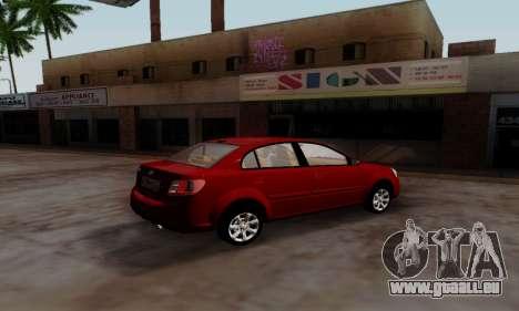 Kia Rio pour GTA San Andreas laissé vue