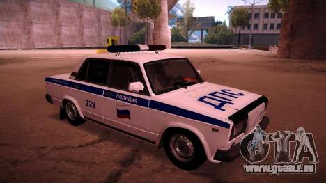 VAZ 2107 Polizei DPS für GTA San Andreas linke Ansicht