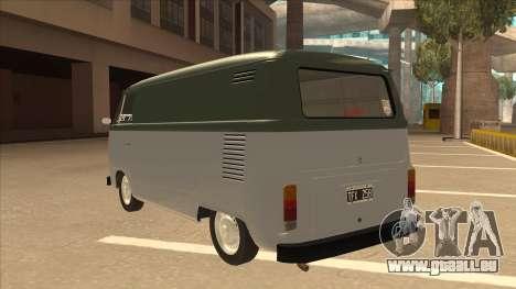 VW T2 Van für GTA San Andreas Rückansicht