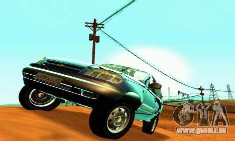 21236 Chevrolet Niva VAZ pour GTA San Andreas vue intérieure
