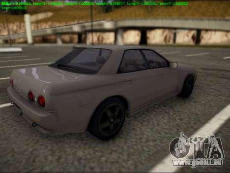 Nissan Skyline R32 pour GTA San Andreas sur la vue arrière gauche