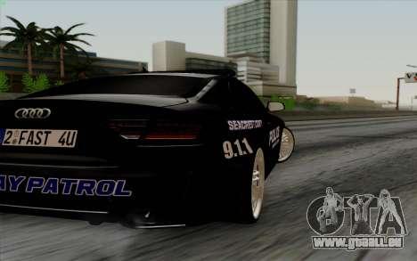 Audi RS5 2011 Police pour GTA San Andreas vue de droite