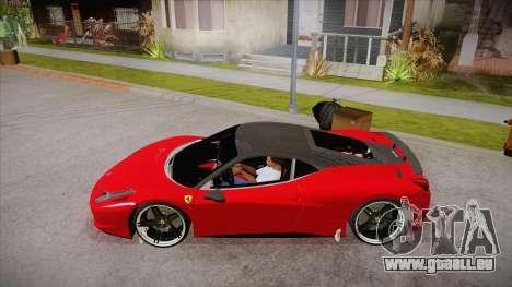 Ferrari 458 Italia Novitec Rosso 2012 v2.0 für GTA San Andreas linke Ansicht