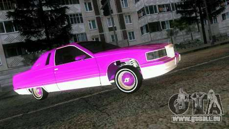 Cadillac Fleetwood Coupe pour une vue GTA Vice City de l'intérieur