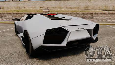 Lamborghini Reventon Roadster 2009 für GTA 4 hinten links Ansicht