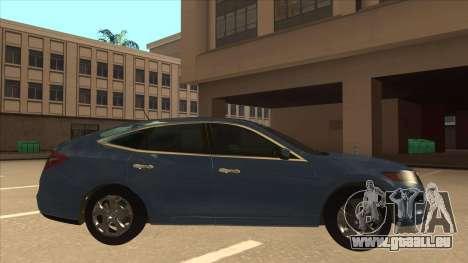 Honda Crosstour 2012 pour GTA San Andreas sur la vue arrière gauche