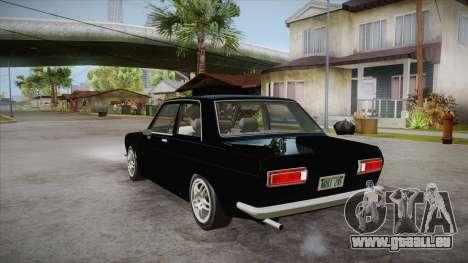 Datsun 510 RB26DETT Black Revel pour GTA San Andreas sur la vue arrière gauche