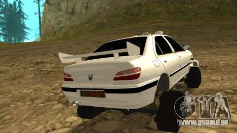 Peugeot 406 Grizzli pour GTA San Andreas sur la vue arrière gauche