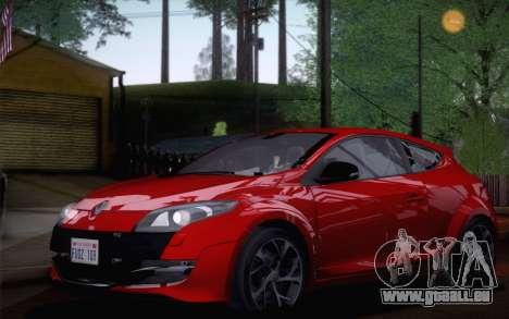 Renault Megane RS Tunable pour GTA San Andreas sur la vue arrière gauche