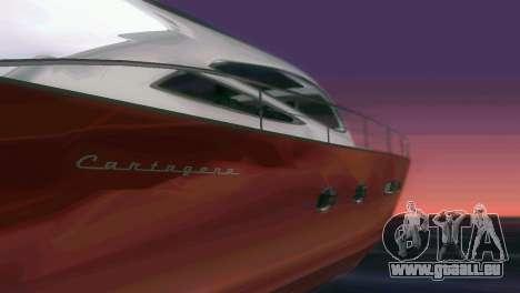 Cartagena Delight Luxury Yacht für GTA Vice City obere Ansicht