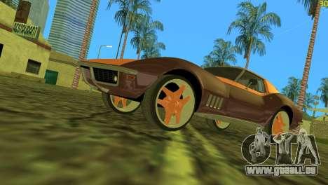 Chevrolet Corvette C3 Tuning pour une vue GTA Vice City de l'intérieur