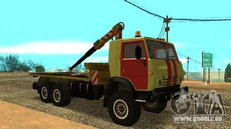 KAMAZ 43114 Abschleppwagen für GTA San Andreas linke Ansicht
