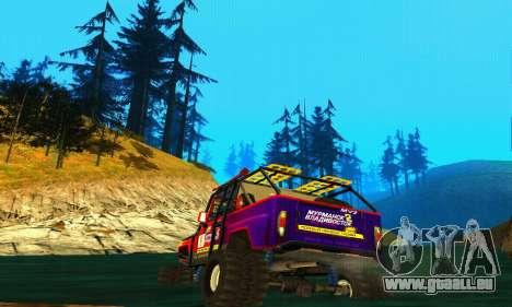 UAZ Hunter Trial pour GTA San Andreas vue arrière
