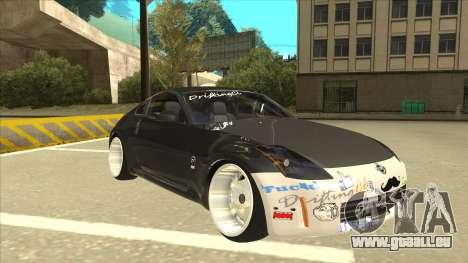 Nissan 350z SimpleDrift pour GTA San Andreas laissé vue
