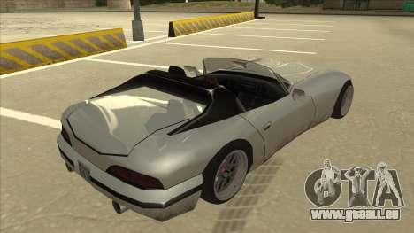Banshee Stance pour GTA San Andreas vue de droite