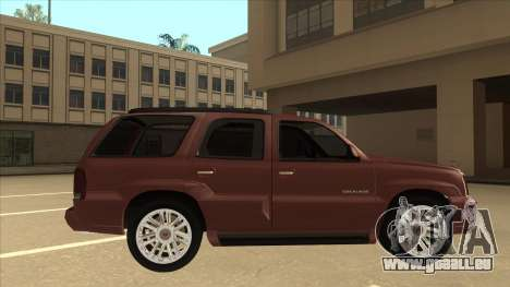 Cadillac Escalade 2002 für GTA San Andreas zurück linke Ansicht