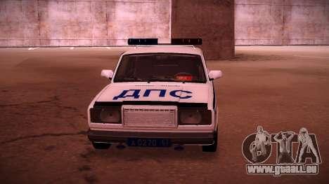 VAZ 2107 Polizei DPS für GTA San Andreas rechten Ansicht