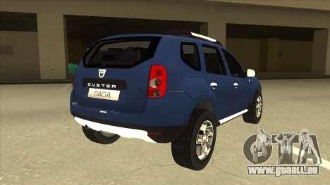 Dacia Duster 2014 pour GTA San Andreas vue de droite