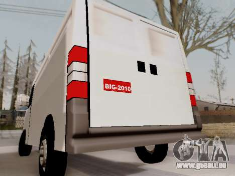 Fiat Ducato Cargo pour GTA San Andreas sur la vue arrière gauche