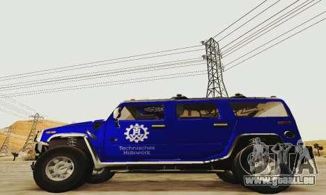 THW Hummer H2 für GTA San Andreas linke Ansicht