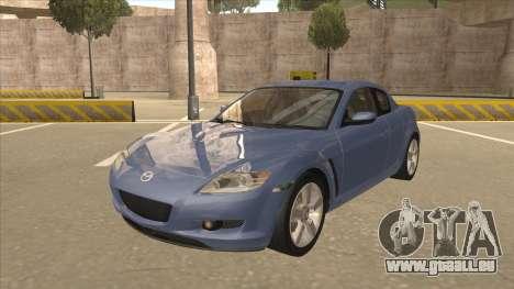 Mazda RX8 Tunable pour GTA San Andreas