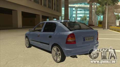 Opel Astra G Stock pour GTA San Andreas vue arrière