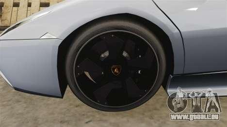 Lamborghini Reventon Roadster 2009 für GTA 4 Rückansicht