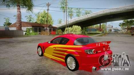 Mazda RX8 Tunnable pour GTA San Andreas vue de côté