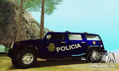 Hummer H2 G.E.O.S. pour GTA San Andreas laissé vue
