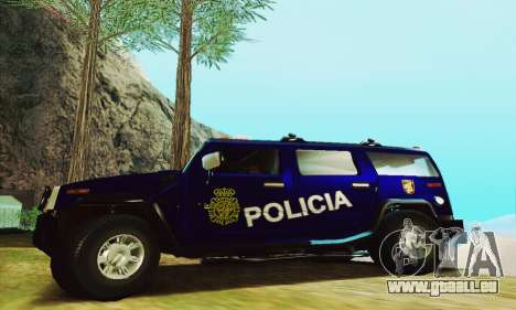Hummer H2 G.E.O.S. für GTA San Andreas linke Ansicht