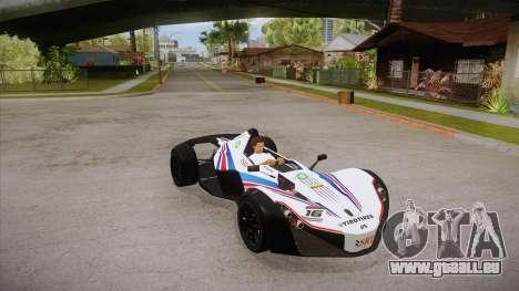 BAC Mono 2011 für GTA San Andreas obere Ansicht