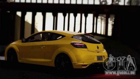 Renault Megane RS Tunable pour GTA San Andreas vue de dessus