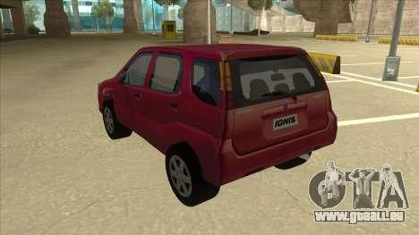 Suzuki Ignis für GTA San Andreas Rückansicht