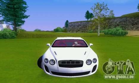 Bentley Continental Extremesports pour GTA San Andreas laissé vue